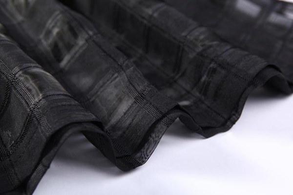 レディースメッシュスカート透明スカートハイウエストプリーツミッドツツスカートオーガンザスカート