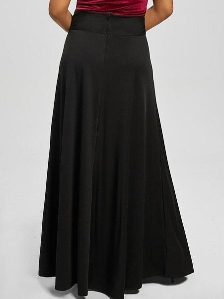 新しい女性のファッションカジュアルプラスサイズハイウエストマキシフレアスカート