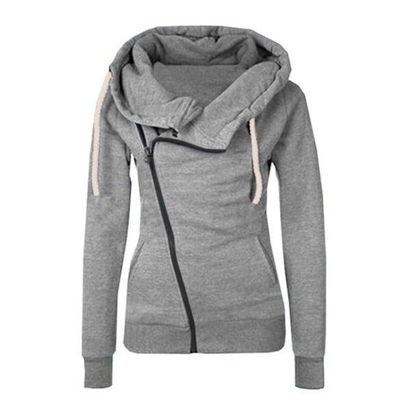 Women Hoodies Sweatshirts Hooded Jacket Long Sleeve Femme Zipper Fall Winter Female Coat Outwear