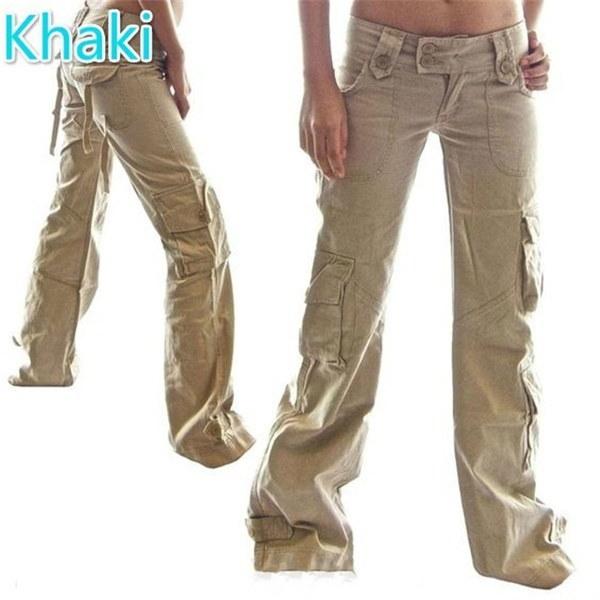 カジュアルな快適な女性のルーズジーンズポケット付きソリッドカラーストレートパンツレディース全身