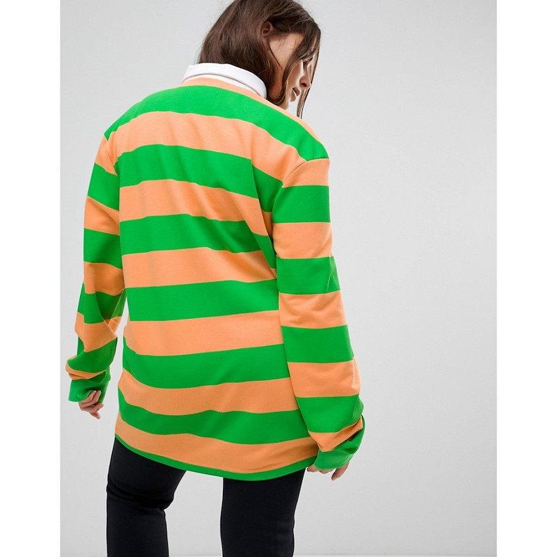 プーマ レディース トップス【Puma Exclusive To ASOS Plus Striped Rugby Jersey In Orange】Orange