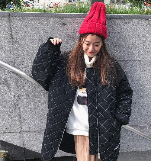 2017秋冬♪レディース♪トップス♪長袖♪原宿 カジュアル キルティング コート 全2色
