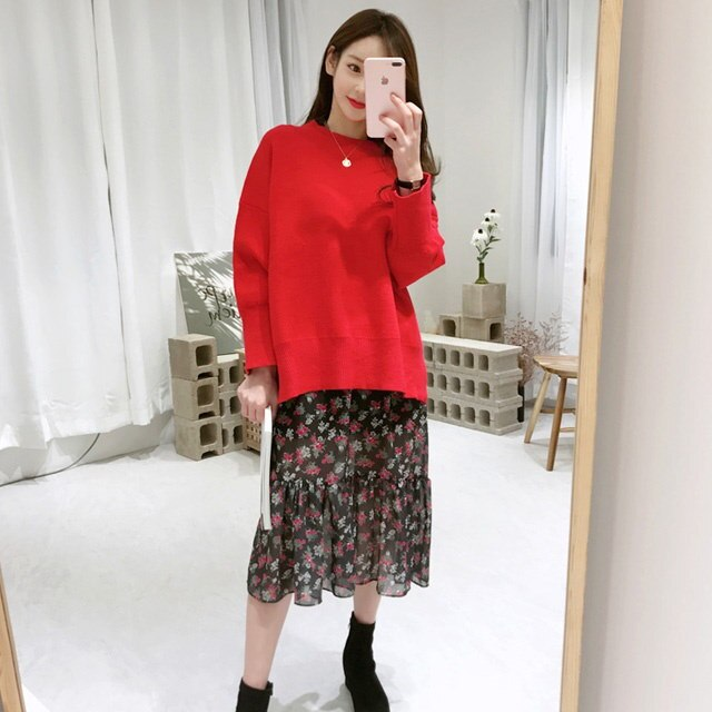 Bird knit knit Korean fashion style