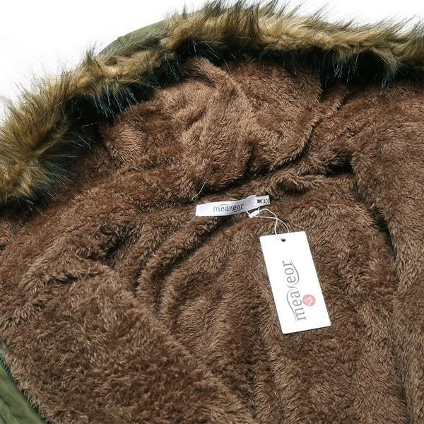 Newly Fashion New Women Warm Winter Casual Hooded Jacket Drawstring Waist Long Coat Fleece Lined Par
