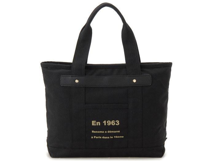 renoma レノマ トートバッグ 1505006-04506T キャンバス 1WAYバッグ ブラック【送料無料】