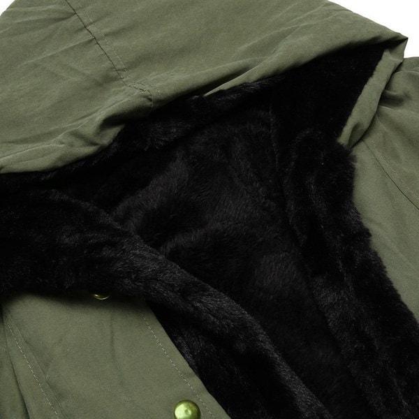 女性ウィンターロングウォームシックパーカーフェイクファーフード付きロングスリーブジャケットフード付きコート(サイズ:L、カラー:B)