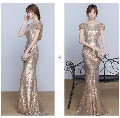 マーメイドドレス 韓国 オルチャン ウェディングドレス 二次会 ステージ衣装 パーティー ロング 花嫁 カラードレス 結婚式