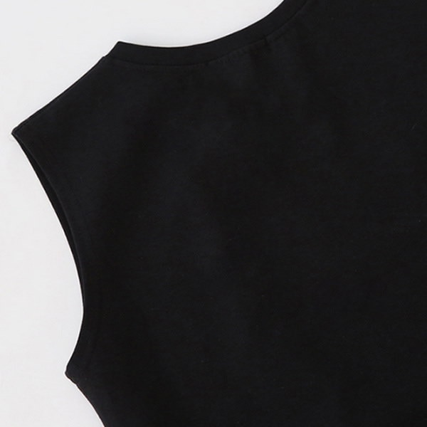 【即日発送】ノースリーブ ワンピース ブラック xp-189