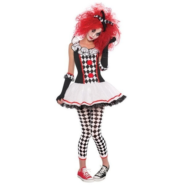 Women s Halloween Costume Sexy Harlequin Clown Outfit Kit Adult