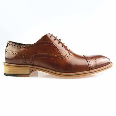 High end Men Oxfords Shoes Genuine Leather Formal Shoes Brown Size 39-45