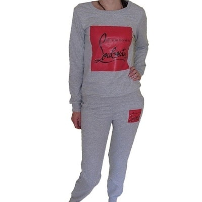 2015 High Quality Women Sportswear Printed Letter Fall Tracksuits Long-sleeve Casual Costumes Mujer