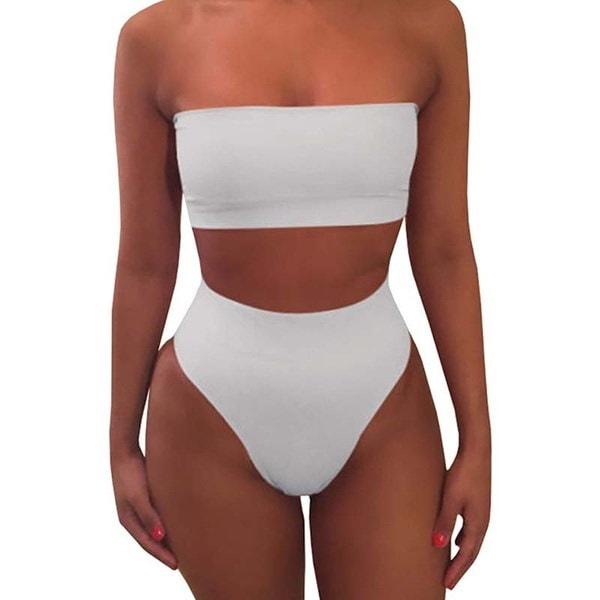 レディースファッション夏のセクシー水着刺繍ローズハイウエストビキニセット2つのピースの水着(