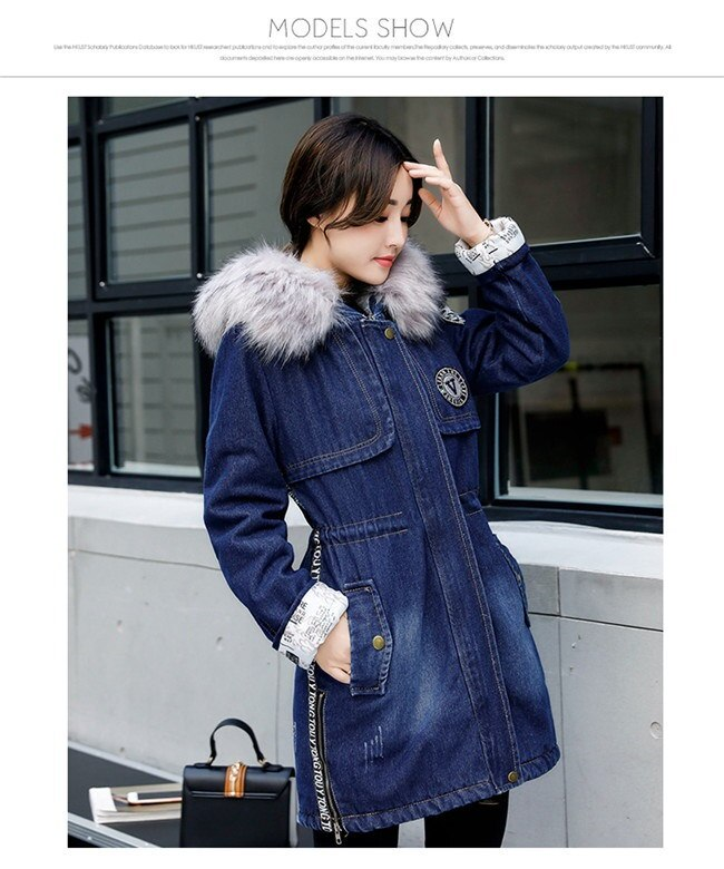 デニムジャケット ブルゾン デニムコート レディース ロング アウター フェイクファー 冬 秋 上品 トレンド 韓国ファッション おしゃれ きれい