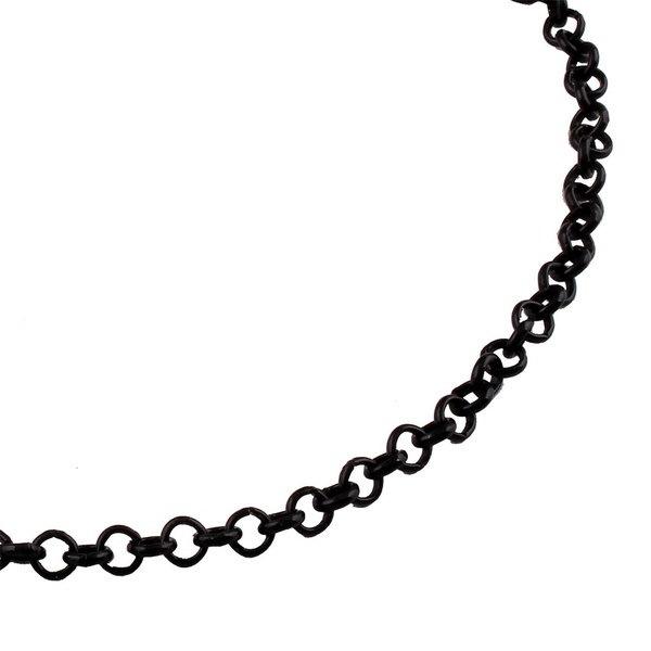 パンクスタイルハーフムーンペンダントブラックチェーンファッション女性ネックレス(カラー:ブラック)