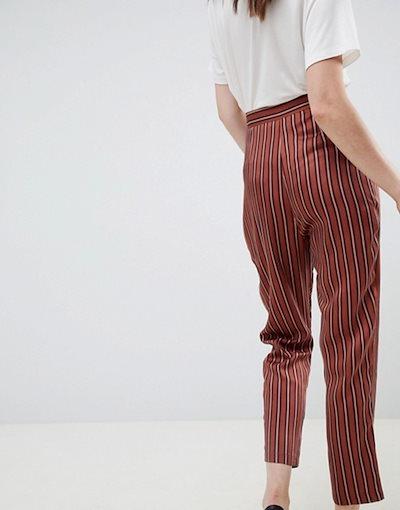 エイソス レディース カジュアルパンツ ボトムス ASOS DESIGN colored striped tapered pants