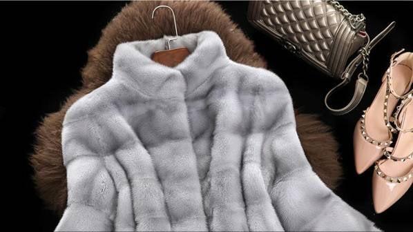 s20 お洒落   豪華 人工ミンク 高級 毛皮ファー  レディース ロングコート 灰