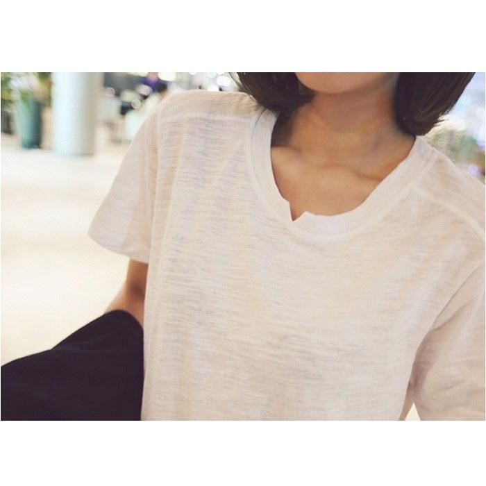 [新作★NewItem]3サイズ!クルーネックシンプルホワイトTシャツ/レディース(詳細サイズをご確認ください!)【RCP】【smtb-m】
