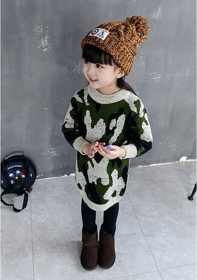 Girls Dress Autumn New Korean Winter Baby Sweater Skirt Thickened Long