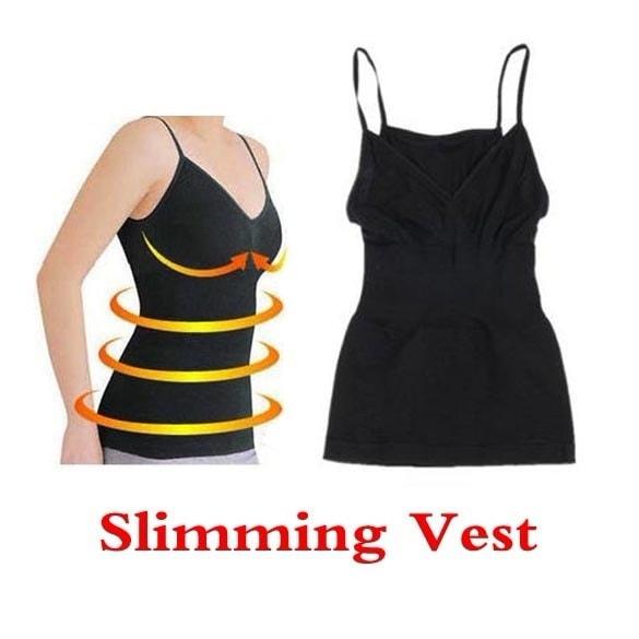 体重減少の脂肪燃焼ブラックカラースリミングベストコルセットボディシェイプチェストUP EDD2