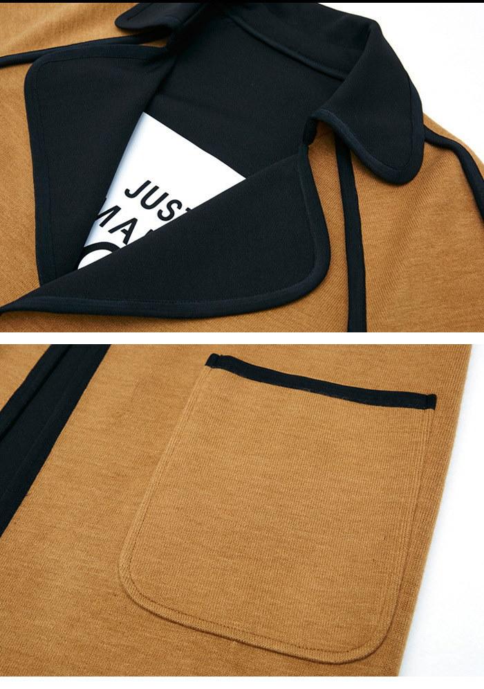 リバーシブル チェスターコート レディース 大きいサイズ キャメル ブラック ベージュ ロング ベルト カーデ 羽織 チェスター コート アウター