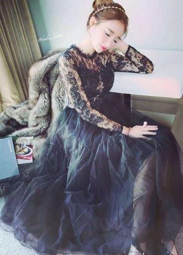 ナイトドレス 黒 レース 花柄 セクシー ワンピース お呼ばれ 20代 30代 40代 新作