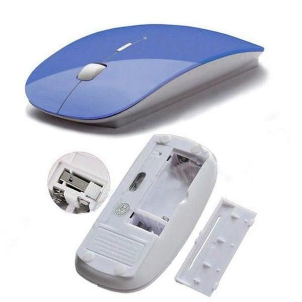 超薄型USB光ワイヤレスマウス2.4GレシーバーマウスコードレスコンピュータのPCノートパソコンのデスクトップ