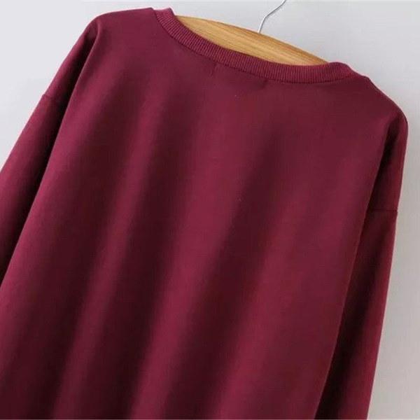 ファッション女性のカジュアルロングスリーブパーカージャンパープルオーバースウェットシャツトップスシャツ