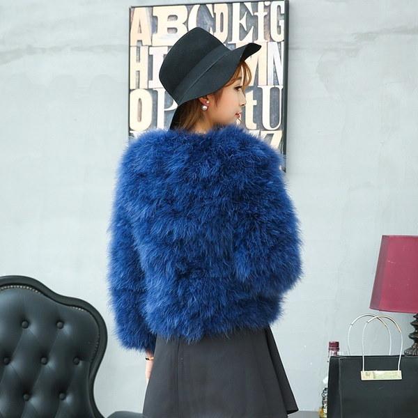 Hot Fashion Autumn Ostrich Fur Jacket And Cotton Coat H-SP161014-4