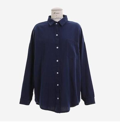 爽やかなカジュアルシャツ☆トップスインして今風に  こなれ感の出るアイテム☆ c0184