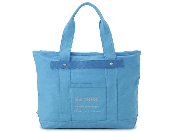 renoma レノマ トートバッグ 1505006-24401 キャンバス 1WAYバッグ ブルー【送料無料】