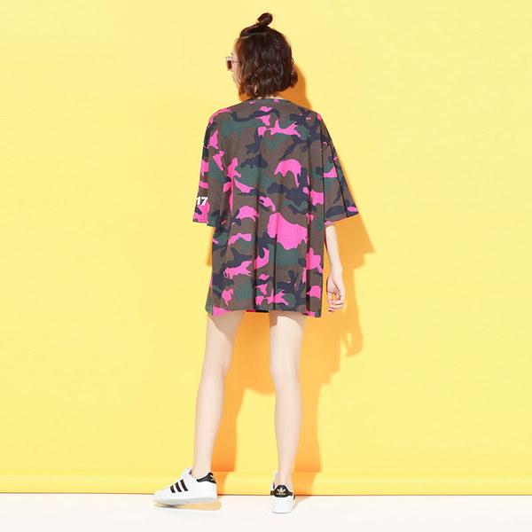 Tシャツドレス☆ワンピース POP カジュアル 迷彩 レディース