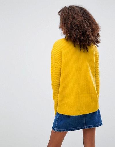 エイソス レディース ニット・セーター アウター ASOS DESIGN stitch detail sweater with roll neck