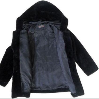 新しい新しい冬のファッションふわふわの暖かい女性のコート緩い偽の毛皮のフード付きジャケット女性のオーバーコート