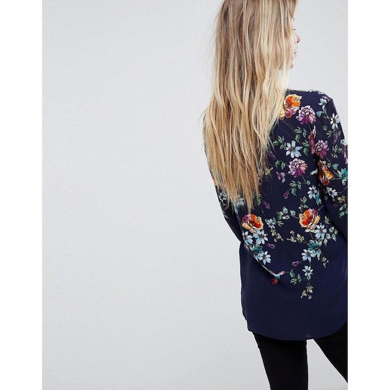 オアシス レディース トップス ブラウス・シャツ【Oasis Floral Print Shirt】Multi blue