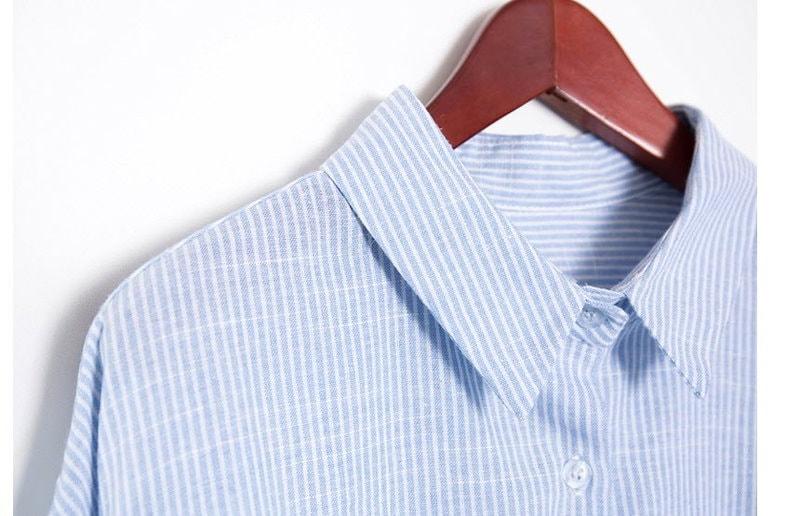 『香港製』SELLISHOP  Ribbon ストライプ柄 シャツ「上品・カットソー・結婚式 ナチュラル,30代 着やせ 40代 ファッション50代 ドルマン・チュニック・2L 13号 ルーズ シャツ