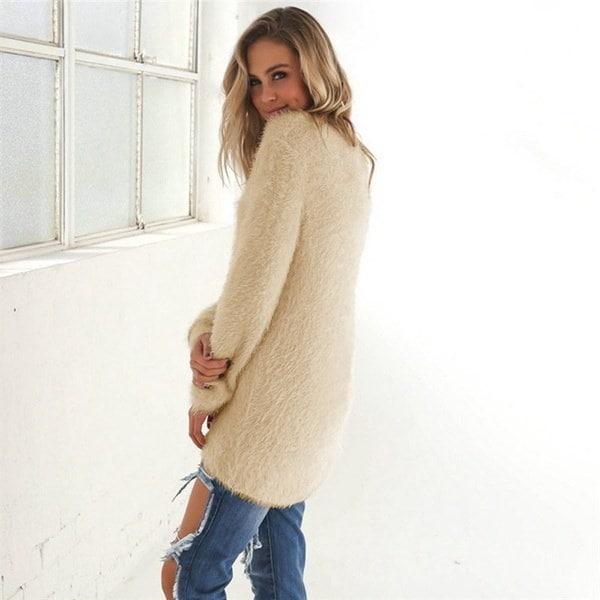 ファッション秋の冬の服レディースルースニットオーバーサイズバギーセータージャンパードレスアウトレット