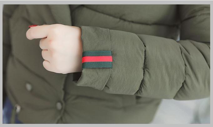 ショート/中綿/ジャケット/無地/シンプル/スリム/韓国ファッション/フェミニン/ショートコート/ダッフルコート/おしゃれ/フェミニン/エレガント