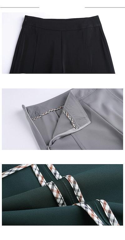 レディース 韓国 ボトムス ハイウエスト 着やせ ワイドパンツ 女