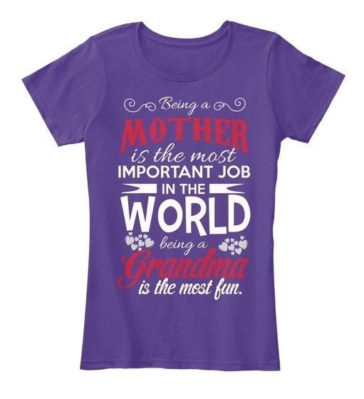 Mothers Day  Grandma T-shirt Women s Premium Tee
