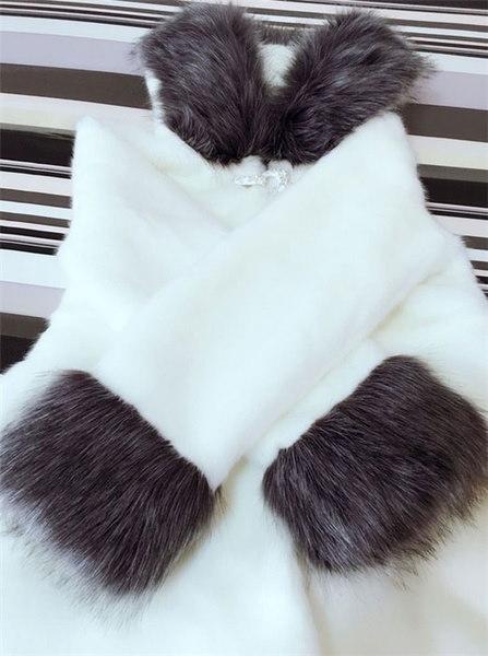 GX-TW-1013-128冬毛皮ファッション女性フード付きコートフェイクファーホワイトブラックウサギミンクファーカジュアルOv