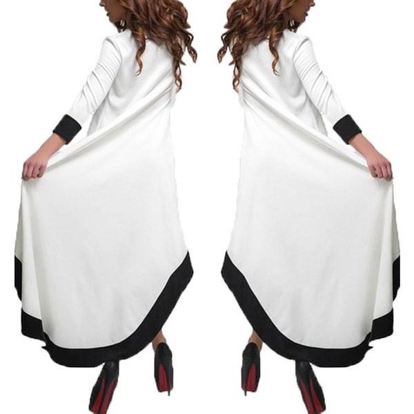 ZANZEA女性セクシーなチュニックファッション不規則なスイングイブニングパーティーロングAラインのドレス