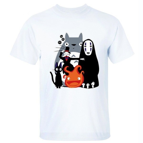 Funny Ghibli Totoro Spirited Away T Shirt Women Cotton T Shirt