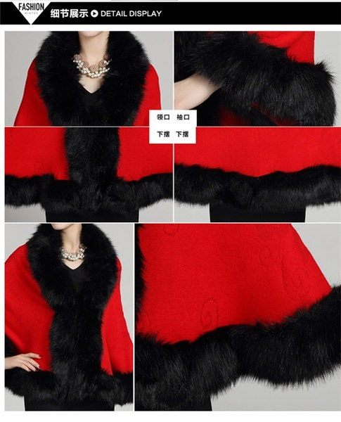 良質エレガントなファッション女性ソフトフォックスファーショールコートとジャケット刺繍ウール女性毛