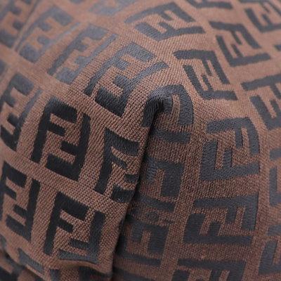 美品 FENDI フェンディ ズッカ 8BH025 レディース トートバッグ ブラウン 黒 ブラック【本物保証】