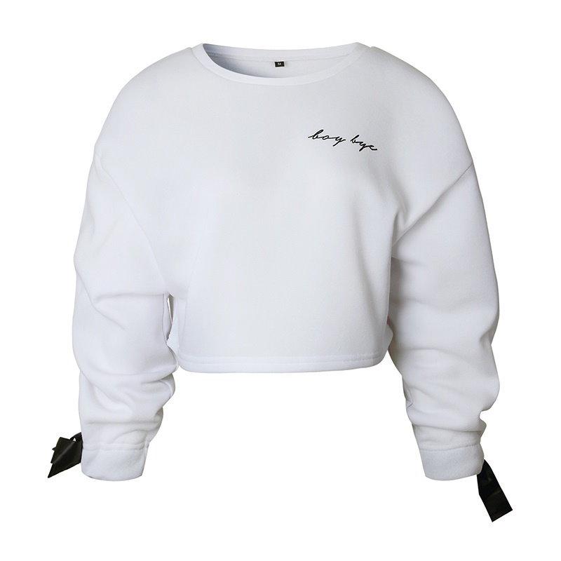 女性のための冬のファッションレディースファッションスウェットシャツ女性のためのラウンドネックロングスリーブシャツパーカー