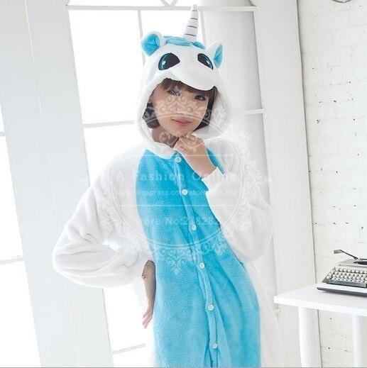 ユニセックス大人のワンピーススリーピングユニコーンキギュルパジャマアニマルコスプレ衣装