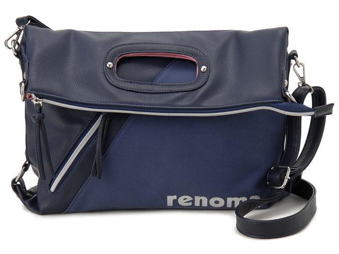renoma レノマ ショルダーバッグ 1505007-21302 キャンバス 3WAYバッグ ネイビー【送料無料】