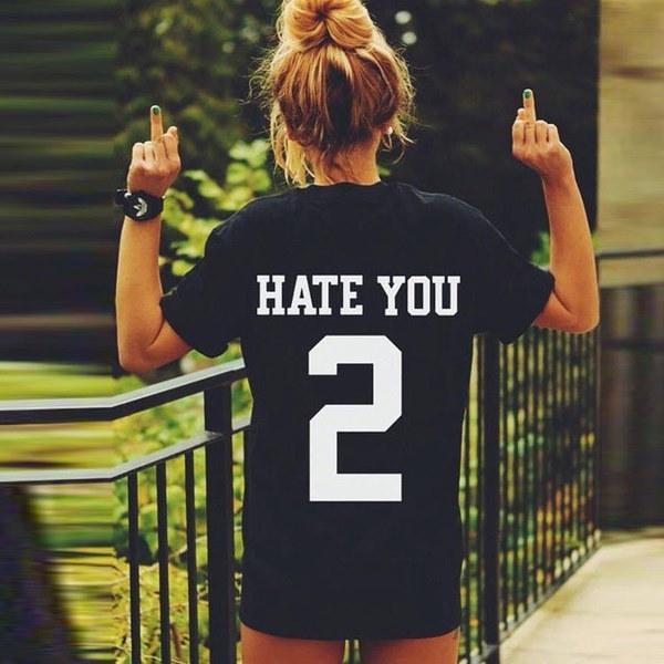 女性はパーソナライズされたあなたを憎む2人の手紙の恋人ショートシャツプラスサイズ