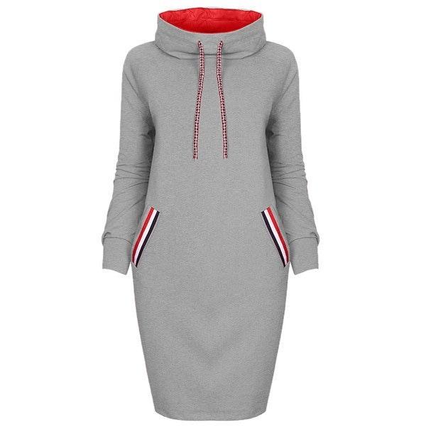ファッション秋冬セクシーなカメネックロングスリーブスリムドレスポケット装飾女性のカジュアルウォーム