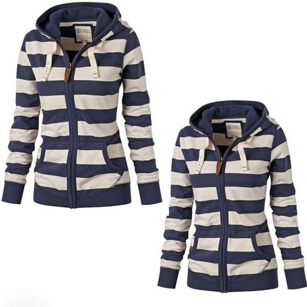 女性プレーンジッパーウォームパーカースウェットジャンパーセータートップフード付きジャケットコート